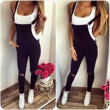 9194f62e802d Vestidos Robe Femme Women Loose Denim Bib Hole Pants Overalls Jeans Demin  Trousers Jumpsuit Fashion Woman