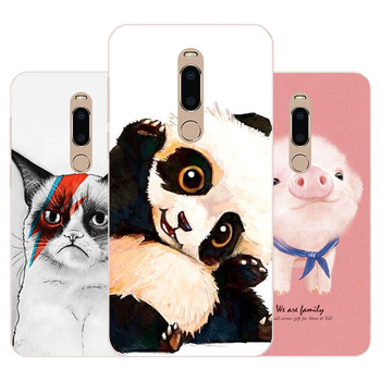 meizu m6t Case,Silicon panda cartoon Painting Soft TPU Back Cover for meizu m6t protect Phone cases