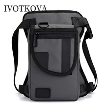 IVOTKOVA Men Waterproof Oxford Leg Bag Drop Fanny Waist Pack Thigh Hip Bum Belt Military Tactical for Travel Motorcycle Riding цена и фото