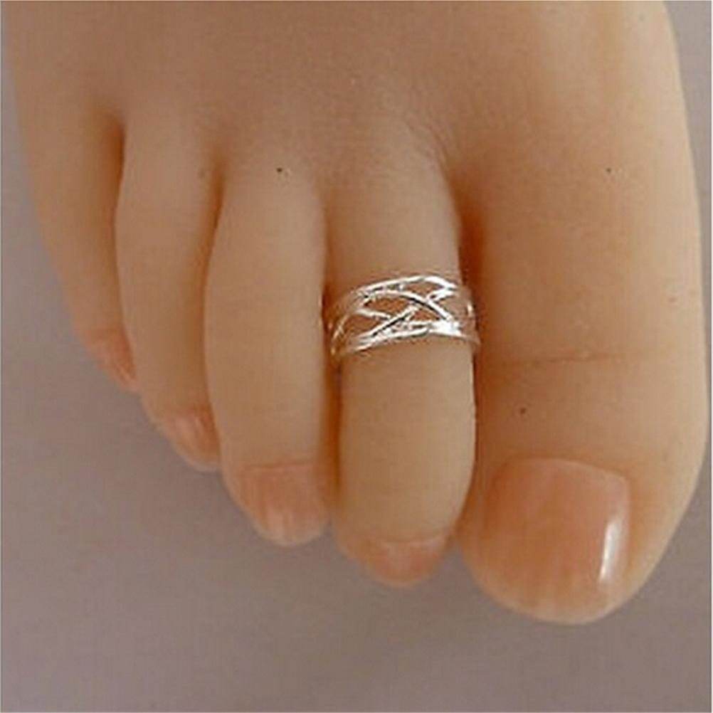 Silver Plated Zinc Alloy Adjustable Size Finger Rings Toe Ring For Women đồng hồ gucci dây nam châm