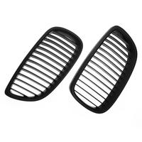 1 Pair Front Kidney Grille For BMW E92 E93 M3 06 10 Car Racing Matte Black
