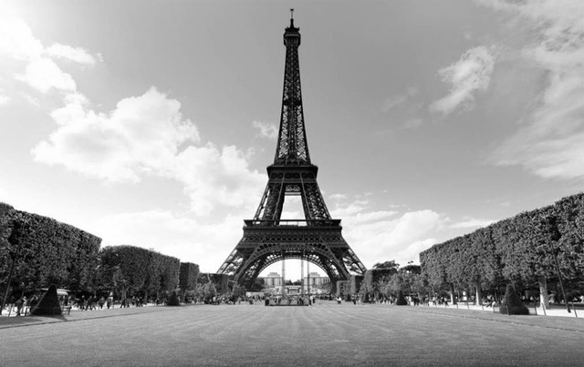 Custom any size beautiful scenery wallpapers tower black and white landscape background wall