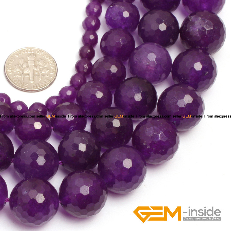 4mm 6mm 8mm 10mm 12mm Jewelry Necklace Bracelet Natural Gemstone Purple Amethyst Matte Round Loose Beads Frosted 15 Full inch Strand