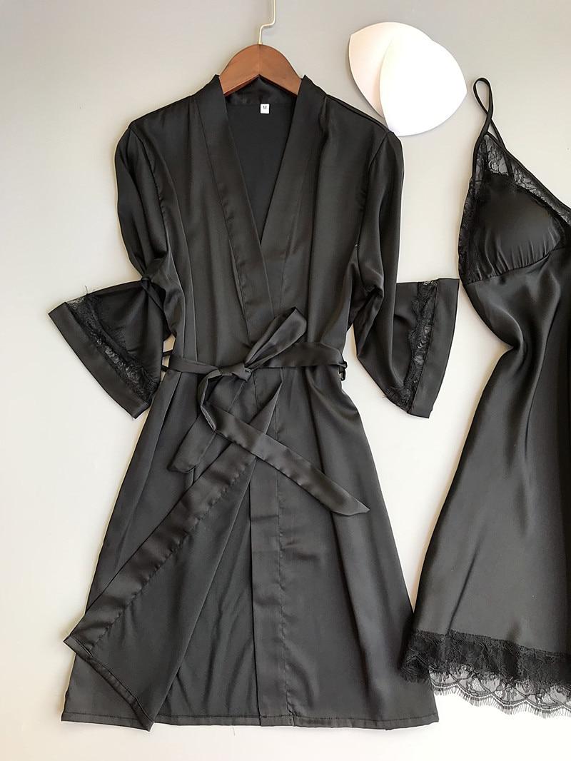 0ef0a965b42aa Fiklyc marque femmes sommeil & salon deux pièces robe & robe ...
