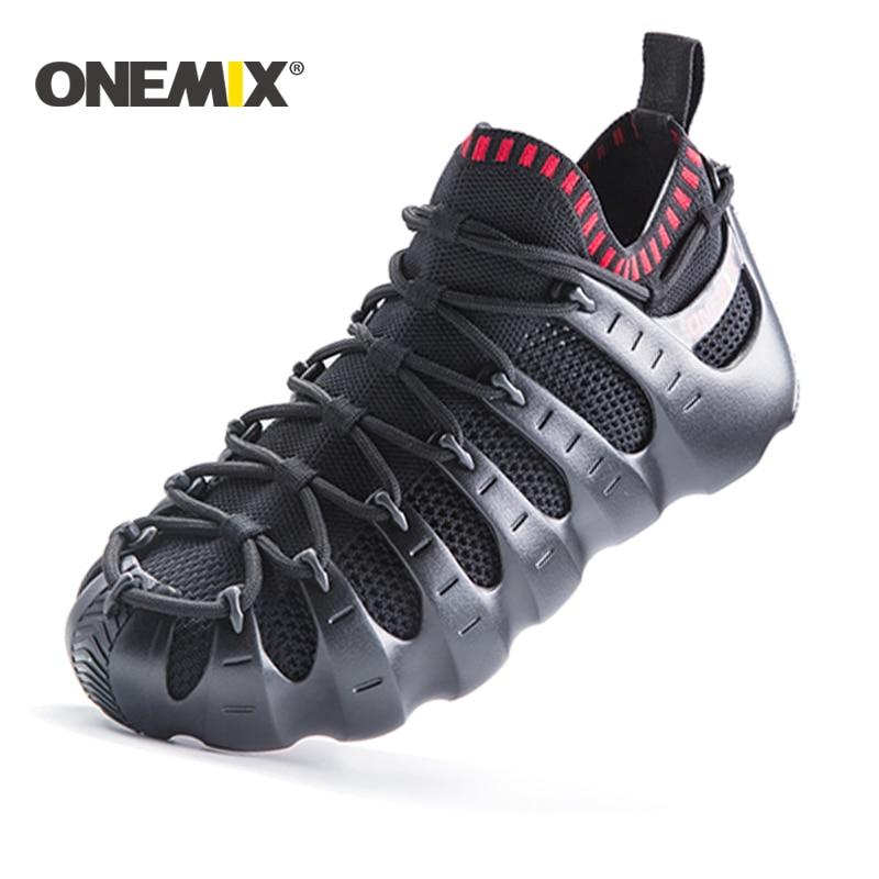 Onemix Men & Women Running Shoes Beach Shoes Multifunctional Sports Shoes Jogging Sneakers Outdoor Walking Shoes Sandals Slipper