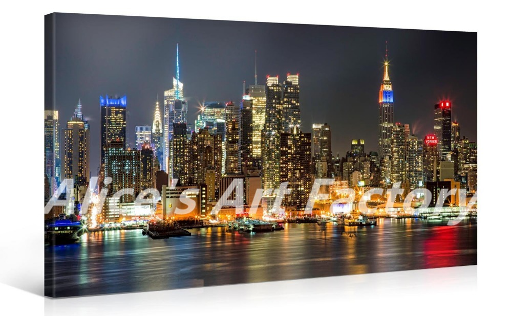 canvas art print 40x20 inch large new york cityscape wall
