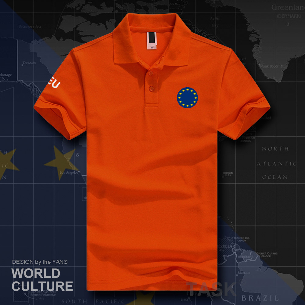 European Union United In Diversity EU EUR Polo Shirts Men Short Sleeve White Brands Printed For Country 2019 Cotton Nation 20