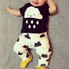 New style cotton baby boys bebe next infant clothing girls clothes children suit set Kids clothing t-shirt + pants