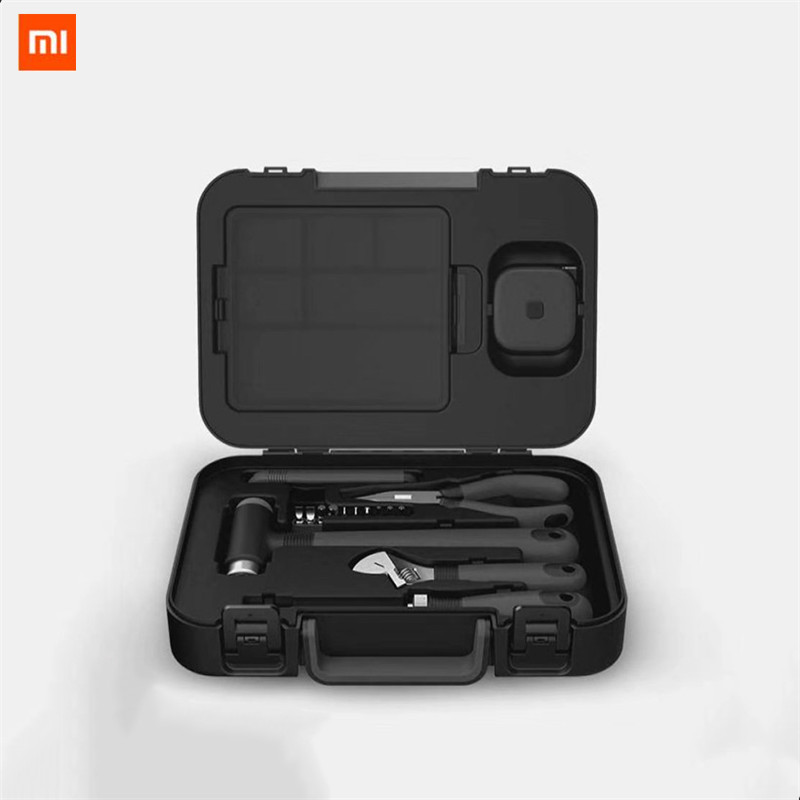 Us 38 49 15 Off Xiaomi Miiiw 16pcs Diy Tool Kit Toolbox General Household Hand Tool With Screwdriver Wrench Hammer Tape Plier Knife Toolbox In Smart