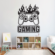 Gamer wall decal Eat Sleep Game Controller video game decals Customized For Kids Bedroom Vinyl Wall Art A1-008