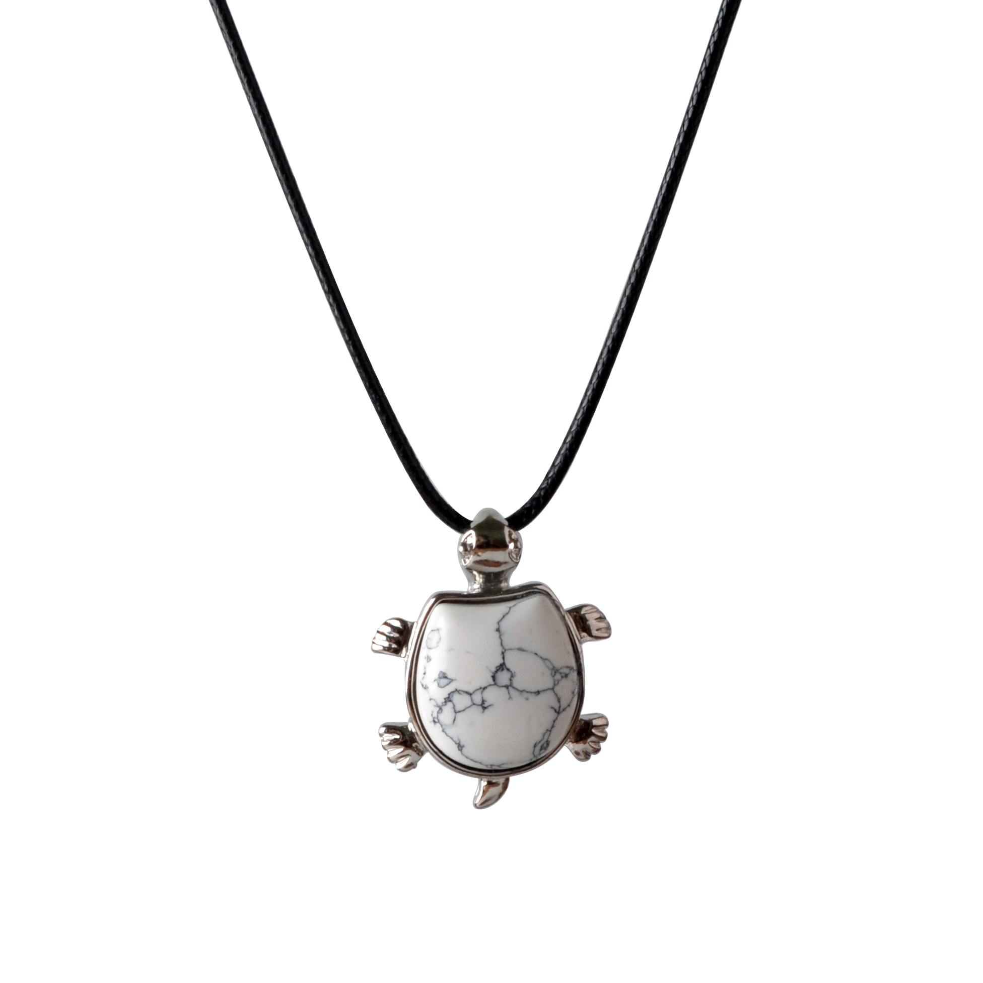 Howlite Turtle Nacklace Pendant Natural semi precious stones give the best gift for men and women