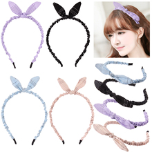 Fashion Headwear Rabbit Ears Headbands Wired Headband Polka Dot Tartan Retro Bow Hairbands Hair Accessories