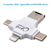 card reader All In 1 TF MicroSD Card Reader Multi-system Compatible Plug & Play Portable Adapter Card Reader For Android iOS Type-C Device (3)