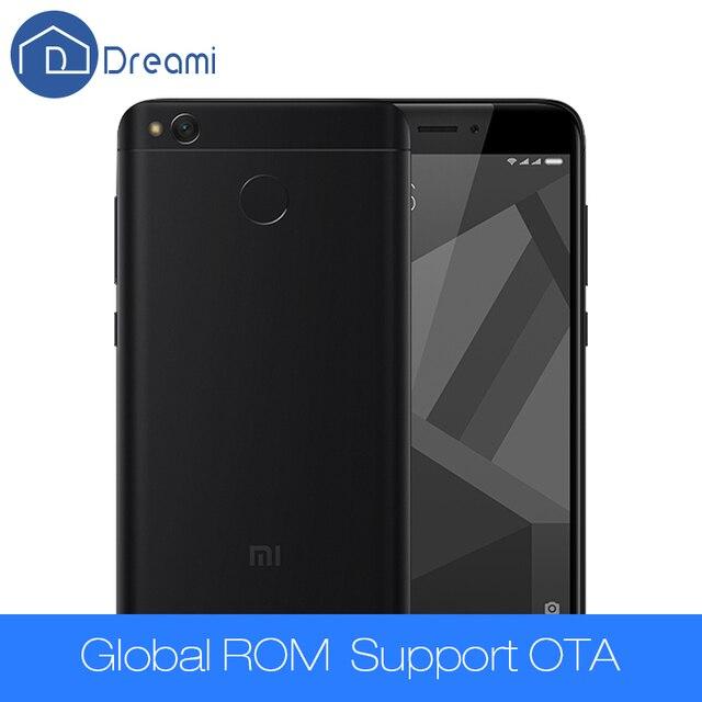 Dreami Оригинальный Xiaomi Redmi 4X2 ГБ 16 ГБ Snapdragon 435 2 ГБ RAM 16 ГБ ROM 4100 мАч 5.0 Дюймов 13MP Камера Мобильного Телефона Redmi4X