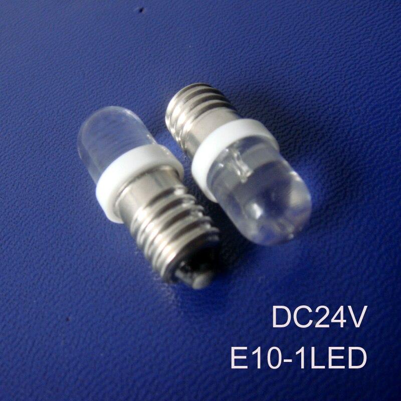 High quality E10 24v led instrument lights,E10 24vdc led bulb,24v E10 indicating lamp e10 led pilot lamp free shipping 10pcs/lot