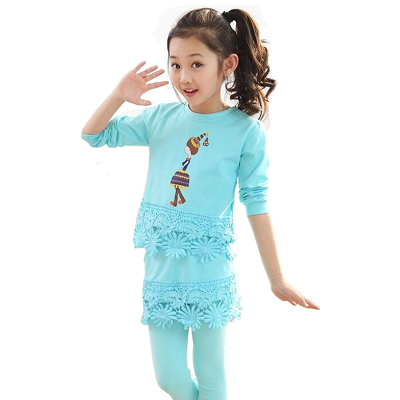 ФОТО Spring Autumn Kids Clothes For Baby Girls Brief Modal Clothing Set Children's Sport Suits Conjunto Menina Outfits Tracksuit