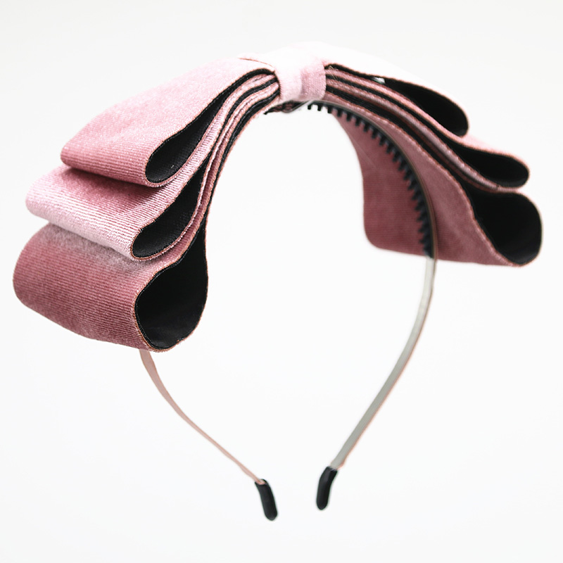 2020k New Winter Velvett 3 Layor Bow Elegant Headband Fashion Children Hairband Hair Accessories OEM