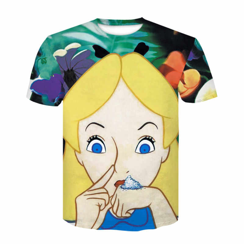 T-shirt da Uomo O-collare T-Shirt di Moda 3D Stampato Boys'Interesting Top a maniche corte Vestiti di Estate 2019 Nuova T-Shirt