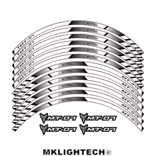 Blu MT-07 General purpose motorcycle wheel decals Reflective stickers rim stripes For YAMAHA MT 07 for yamaha r3 general purpose motorcycle wheel decals reflective stickers rim stripes for yamaha r3
