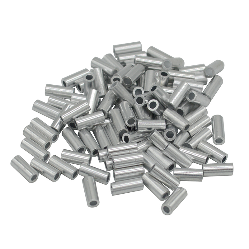 Aluminum Fishing Crimp Sleeves 100pcs/lot Single Round Fishing Line Crimping Tube Wire Crimp Connector Accessories 1.0-2.0mmAluminum Fishing Crimp Sleeves 100pcs/lot Single Round Fishing Line Crimping Tube Wire Crimp Connector Accessories 1.0-2.0mm