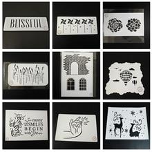 hot deal buy buddha hand stencil-set of 9pcs wind pill,lavender,deer,brick,hot ballon stencils for craft painting,scrapbook,stamping,set of 9