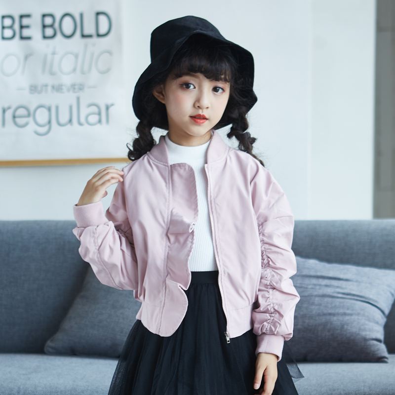 Harem Jacket For Girls Autumn 5 6 7 8 9 10 11 12 13 14 15 Years Coats Teenagers Baby Girl Long Sleeve Jacket Children Clothes