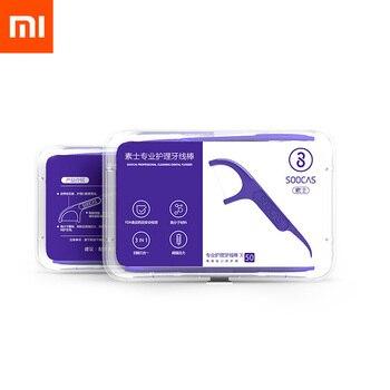 Original Xiaomi Mijia soocas 50pcs/box Daily Tooth Cleaning Professional Dental Floss
