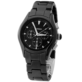 Time100 - 3 Subdial - Black Ceramic Strap Quartz