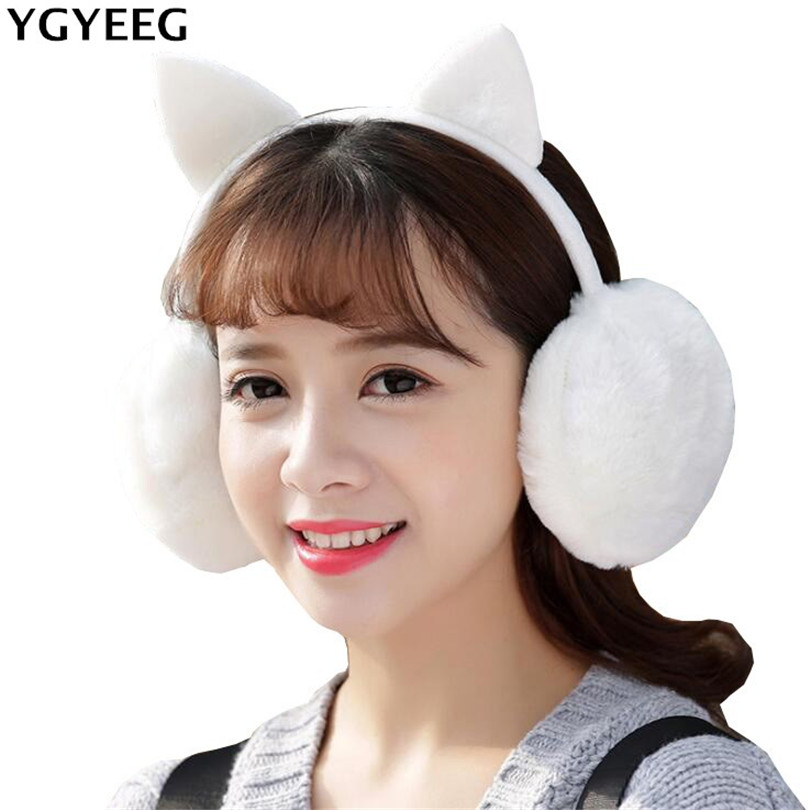 YGYEEG Autumn Winter Women Warm Fur Earmuffs Girl's Earlap Ultralarge Imitation Rabbit Earflap Ladie's Plush Ear Muff Earlap