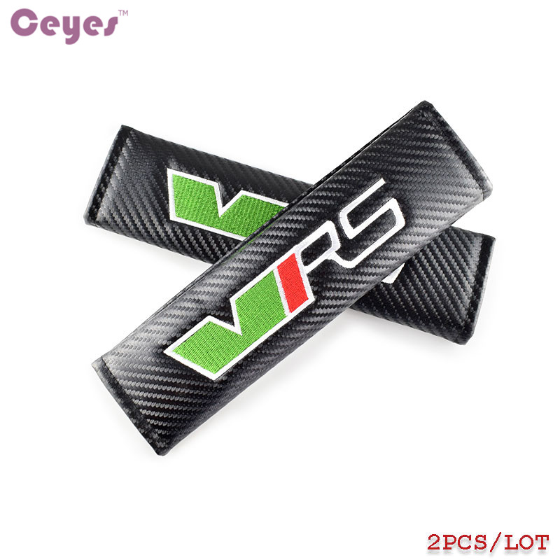 Ceyes Car Styling 2pcs/lot Car Emblems Accessories Case For Skoda VRS Octavia A7 Fabia Yeti RS Auto Seat Belt Cover Car-Styling ceyes car styling 2pcs lot car emblems accessories case for skoda vrs octavia a7 fabia yeti rs auto seat belt cover car styling