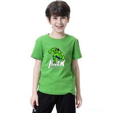 Boys Hulk Avengers T shirt Baby Boys Captain America tshirt Kids Iron man Cartoon T-shirt Summer Short sleeve Superhero Top Tees