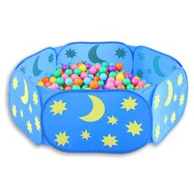 все цены на Foldable Baby Playpen Hexagon Star Moon Balls Pool Pit Indoor Outdoor Children Baby Toy Game Play House Kids Gift Play Tent онлайн