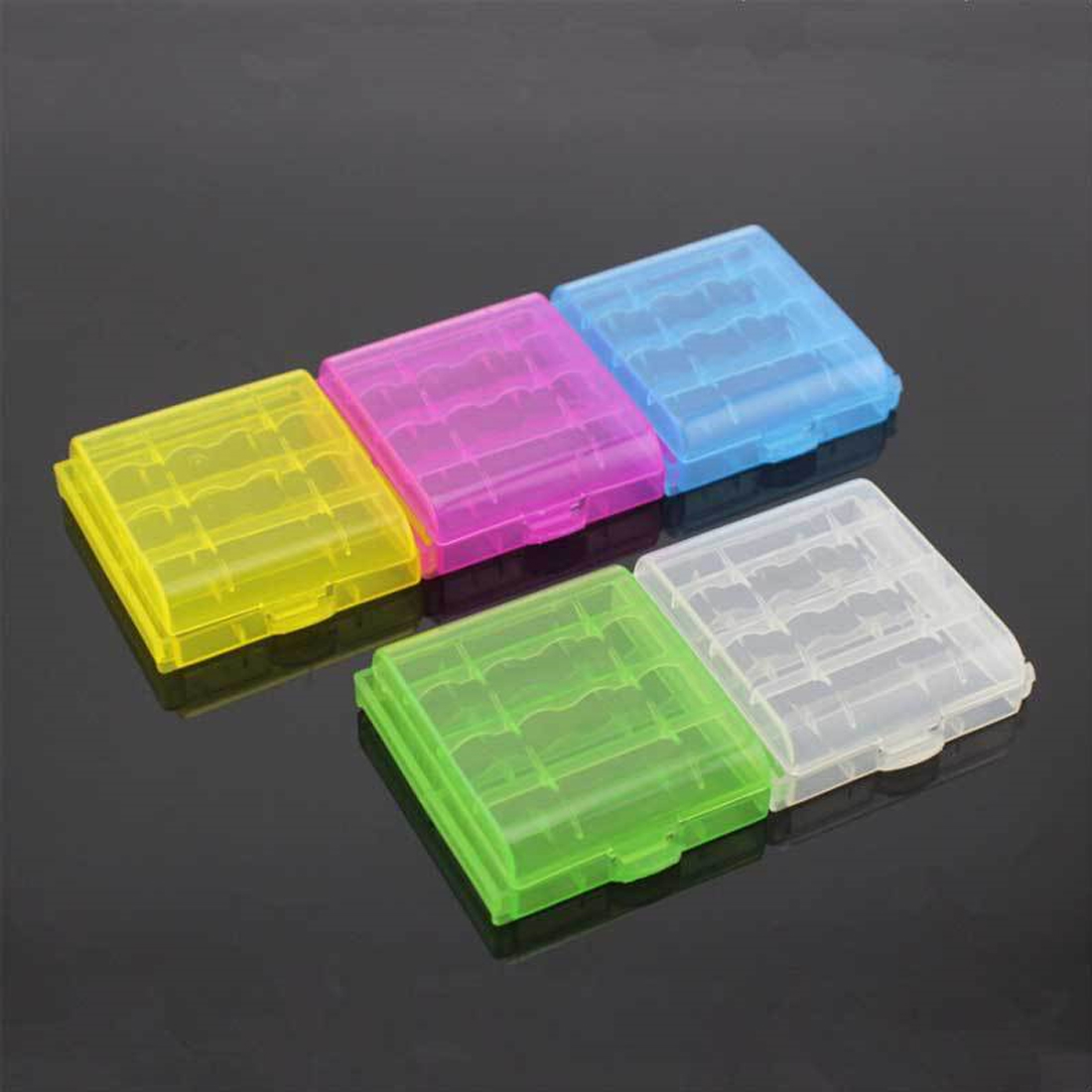 Centechia Hot Sale 2Pcs/lot Mini Portable Plastic Battery Case Holder Storage Box For AAA/AA Battery Rechargeable Full Cover