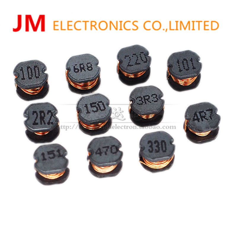50PCS SMD CD54 5*5mm Winding power copper core inductor 2.2UH 3.3UH 4.7UH 6.8UH 10UH 15UH 22UH 33UH 47UH 68UH 100UH 150UH цены
