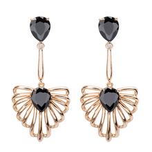 GAOLA Women 2017 High Quality Plant Shape Long Cubic Zirconia Dangle Earrings Female Party Jewelry GLE6370