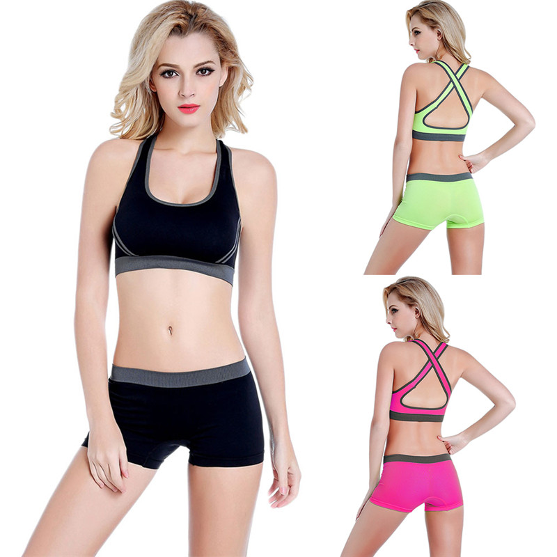 Women/'s Sports Bra Spandex Cotton Racer Back T-Back Seamless Separates