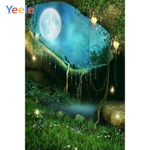Yeele Forest Moon Grass Stone Princess Dreamy Photography Backdrop Baby Birthday Party Photographic Background For Photo Studio