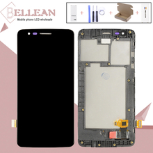 1pcs Catteny X240 Display For LG K8 2017 X240 Lcd Display Touch Screen Assembly With Frame Free Shipping