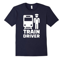 Cool T Shirts Designs Graphic O-Neck Short-Sleeve Mens Train Driver Tees