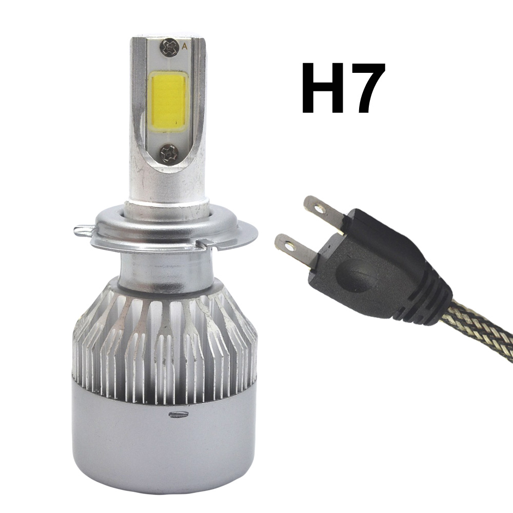 Hiviero Super Bright Car Head lights H7 LED 72W 7600lm IP68 Auto Front Bulb Automobile Headlamp 6000K Fog Light Car Lighting 2pcs h1 led automobile headlight car styling 6000k super bright conversion kit auto head lights
