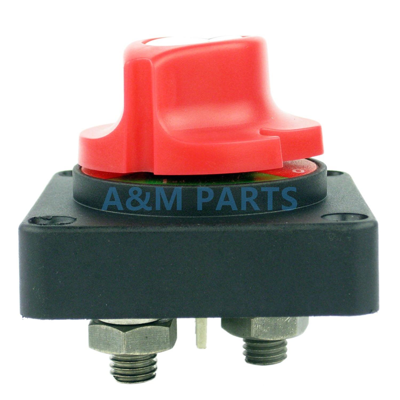 Battery Switch Isolator Marine Boat Battery Selector RV Car Kill Switch 48V DC