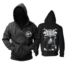 Bloodhoof satanic warmaster black metal zipper men hoodie Asian Size