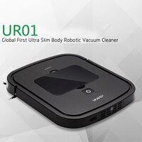 UR01 Smart Auto Vacuum Microfiber Dust Cleaner Robot Floor Sweep Machine Household Cleaning Tools Black White