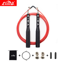 CIMA New Jump Ropes Men and Women Professional Bearing Skip Rope Boxing Gym Fitness metal cable Jump rope with cloth Carry bag