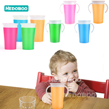 Medoboo Baby 360 Degree Cups Children Training Cup Safety Silicone PP Leak-Proof Magic Water Bottle BPA Free
