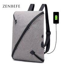 919d132a6d ZENBEFE New Design Backpacks Cool Backpacks For Business Bag USB Charging  With Earphone Port Backpack Daypack