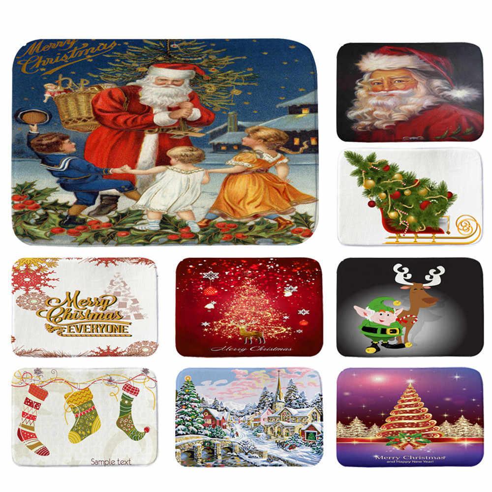 household products Door mat carpet Christmas Festival Entrance Door Bathroom Floor Mat Indoor Bath Decor#G9