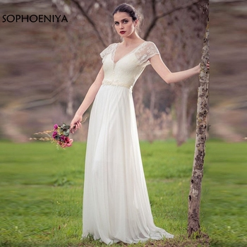 New Arrival Cap sleeve Ivory Wedding dress 2020 Abito da sposa Cheap wedding gowns vestido de noiva princesa bridal dress