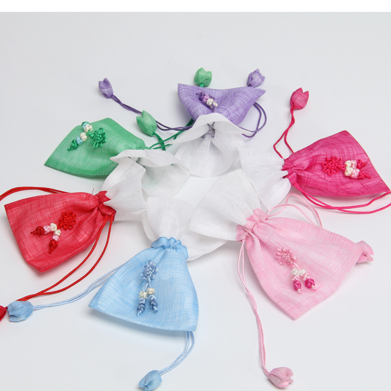 Small Wedding Gift Bags: 100pcs Rustic Small Flower Drawstring Favor Bags Cloth