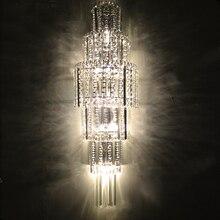 Декоративные Кристалл K9 Настенные Свет Крытый и Открытый Настенный Светильник Ночники Отель Проект Лампы модно стены бра